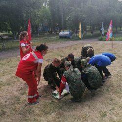 Ульяновский Красный Крест принял участие в организации игры «Зарница» для воспитанников детских домов